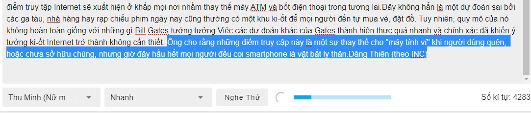 FPT.AI Text to speech